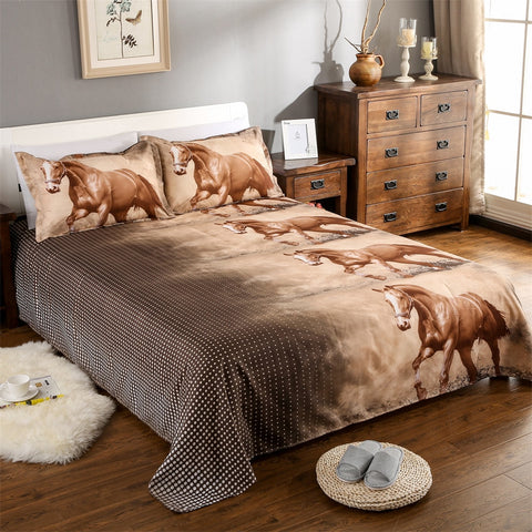 Brown horse bedding
