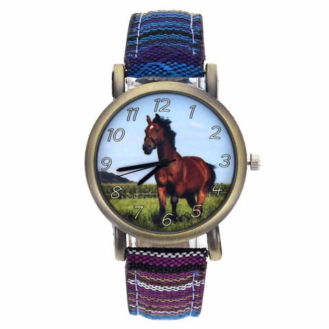 Canvas horse watch