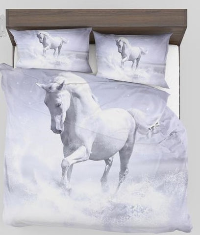 The white horse bedding