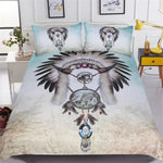 Wolf Dreamcatcher Bedding Set And Hooded Blanket