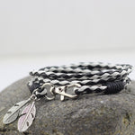 The feather bracelet