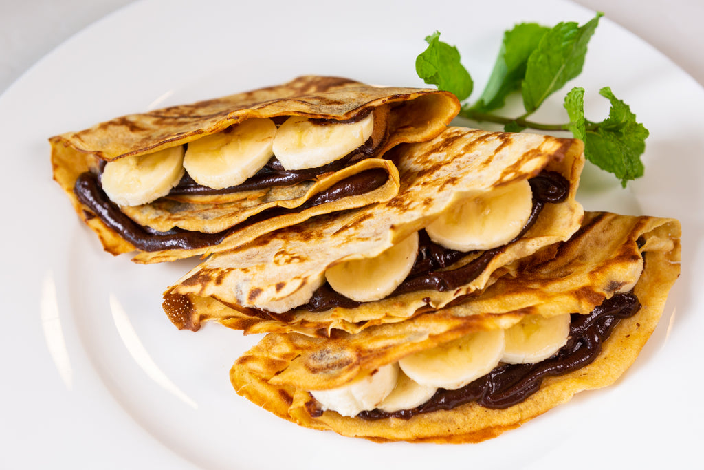 Gluten Free Gheelish Chocolate Banana Crepes