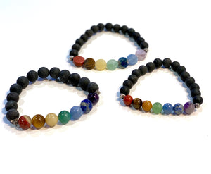 Scent Diffusing Lava Stone Bracelet - Large Round Bead