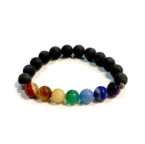 Scent Diffusing Lava Stone Bracelet - Small Round Bead