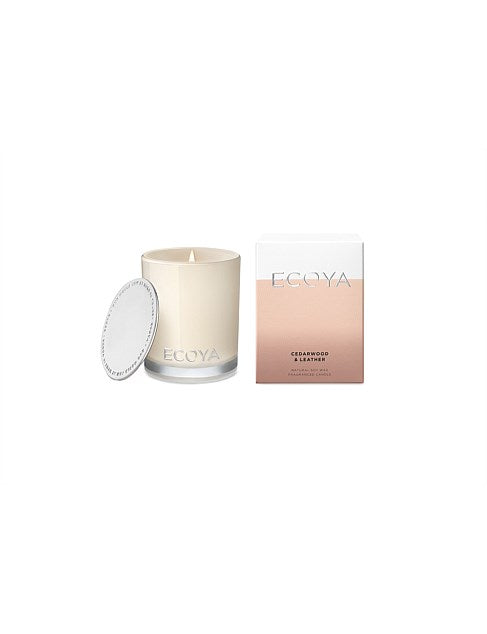 ECOYA MADISON CANDLE 400GM -CEDARWOOD AND LEATHER