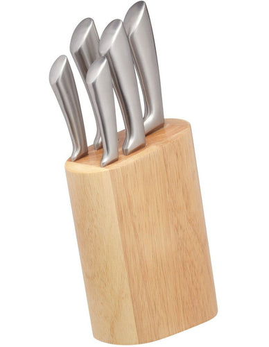 MC CORTES KNIFE BLOCK SET 5PC GIFT BOXED
