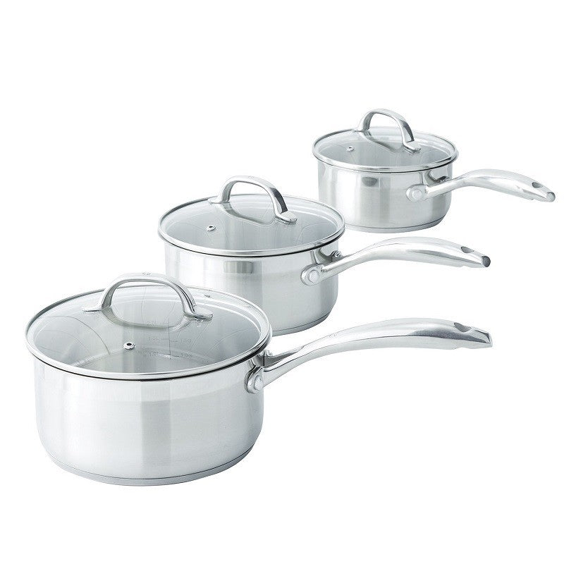 SWISS DIAMOND PREMIUM STEEL SAUCEPAN SET 3 PC