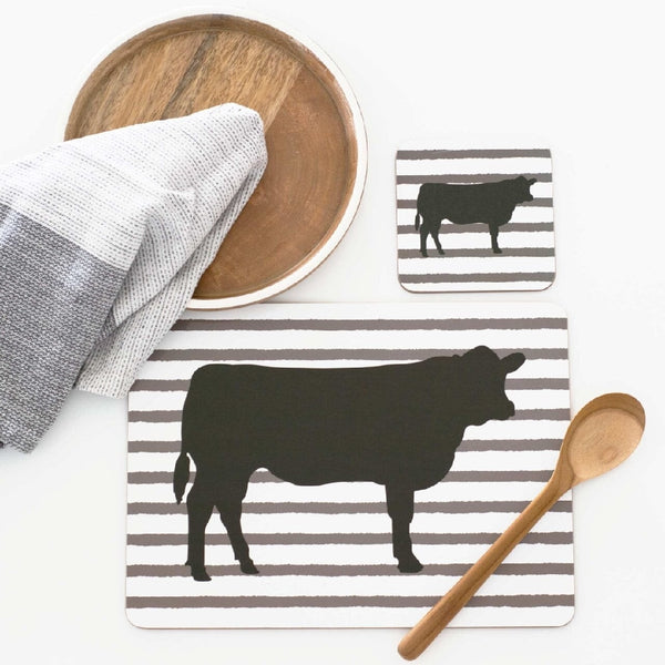 MY HYGGE HOME PLACEMATS -ANGUS COW