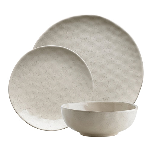 ECOLOGY SPECKLE OATMEAL 12 PC DINNER SET