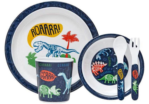 DINOSAUR 5 PC KIDS DINNER SET