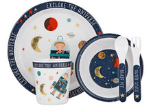 Load image into Gallery viewer, BLAST OFF 5 PC KIDS DINNER SET