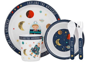 BLAST OFF 5 PC KIDS DINNER SET