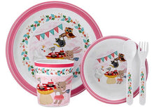 Load image into Gallery viewer, TEA PARTY KIDS DINNER SET