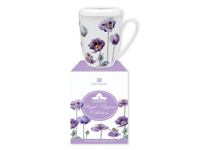 PURPLE POPPIES AWM 3 PC INFUSER