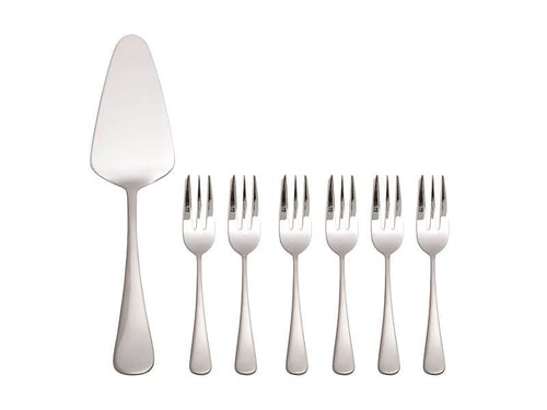 MW MADISON CAKE SERVER & FORK 7PC SET GIFT BOXED