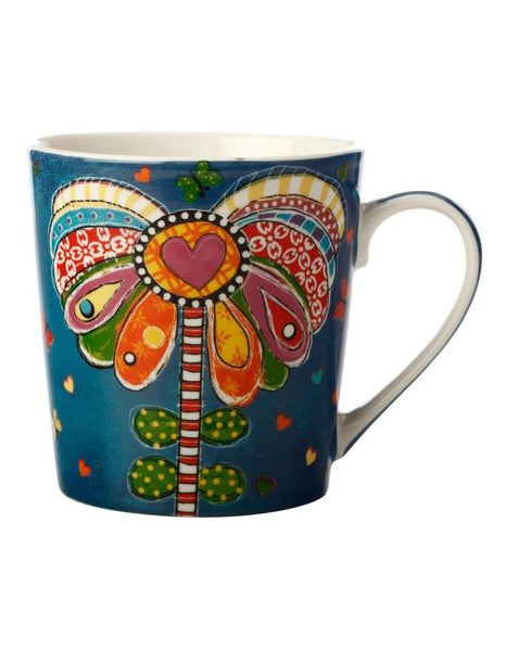 Maxwell & Williams DONNA'S GARDEN MUG 350ML PLAYFUL POPPY TIN GIFT BOXED