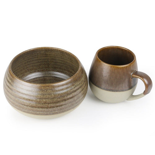 ROBERT GORDON BOWL AND MUG SET - TOFFEE