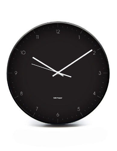 S&P ELIO CLOCK BLACK METAL 40.5CM