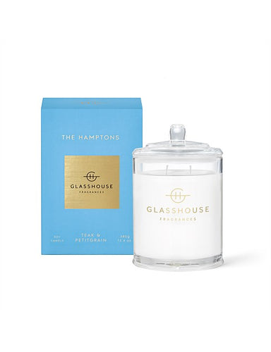 GLASSHOUSE CANDLE 380G - THE HAMPTONS