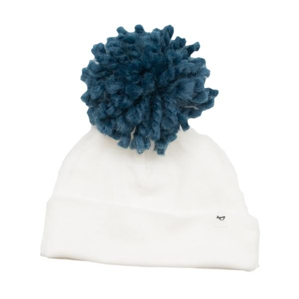 Denim Yarn Pom Hat by Oh Baby!