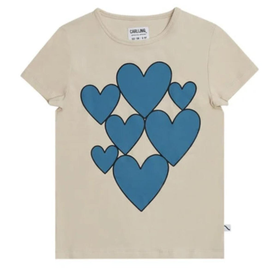 Hearts Printed T-Shirt by Carlijnq