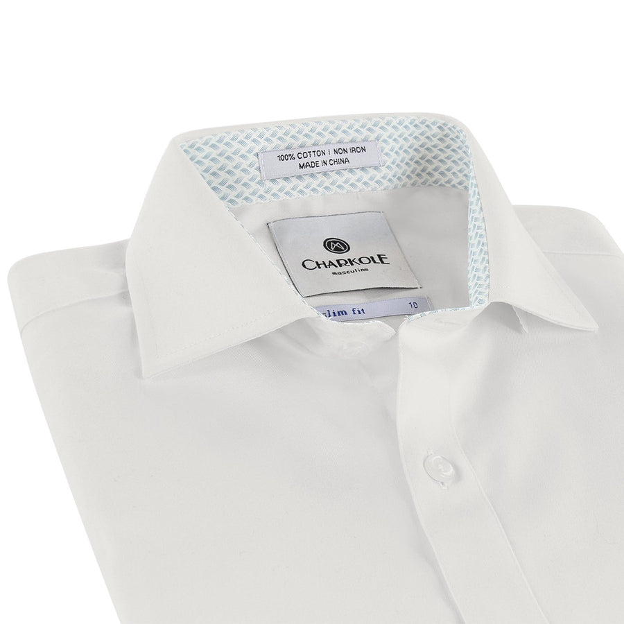 Short Sleeve Wave Slim Fit Shirt by Charkole