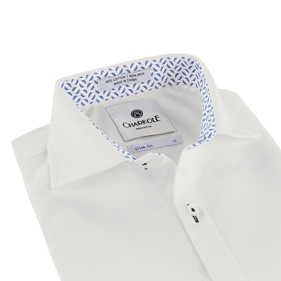Semi Circle Slim Fit Shirt by Charkole