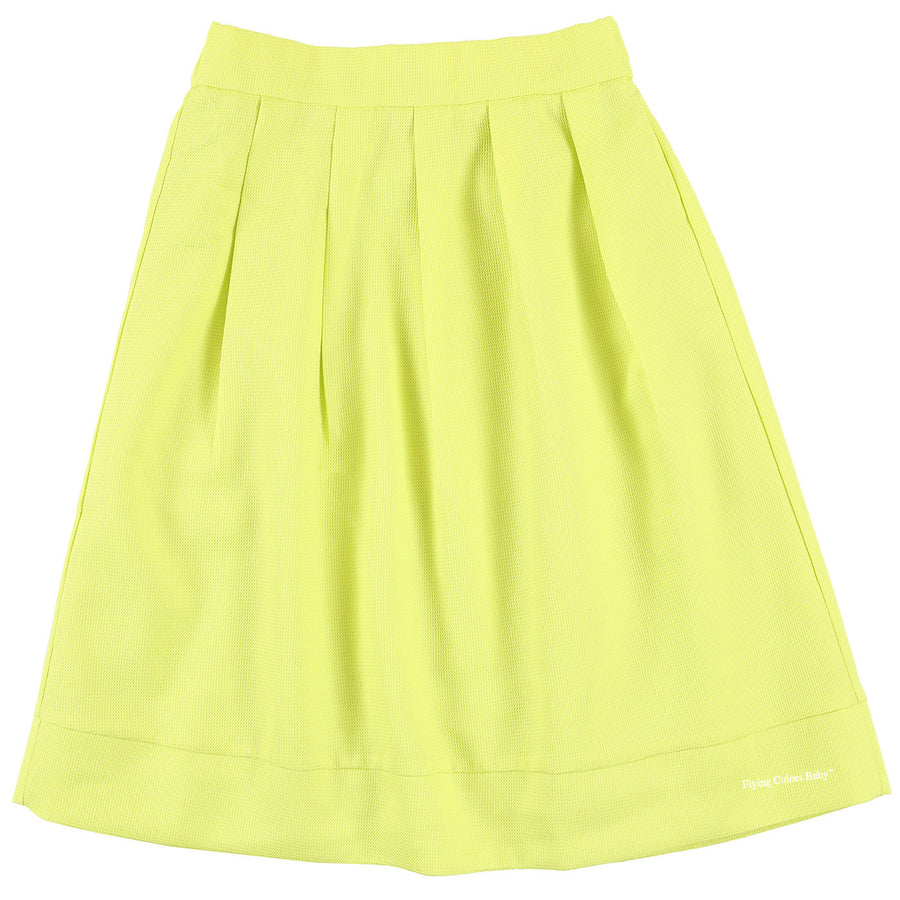 Lime Textured Skirt by MeMe