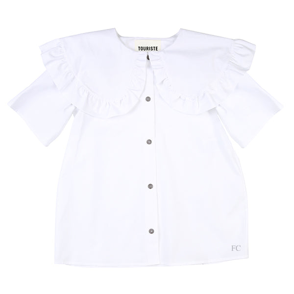 Oversized Collar Polly Shirt by Touriste