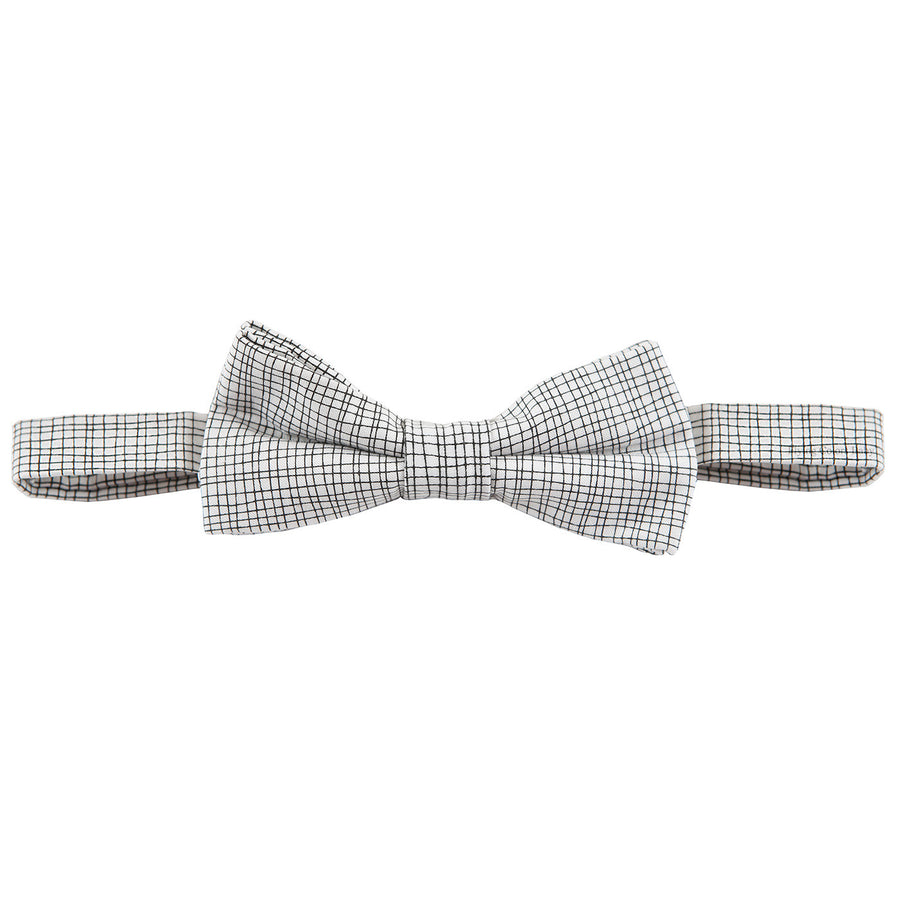Black Grid Bow Tie by Carrement Beau - Flying Colors Baby