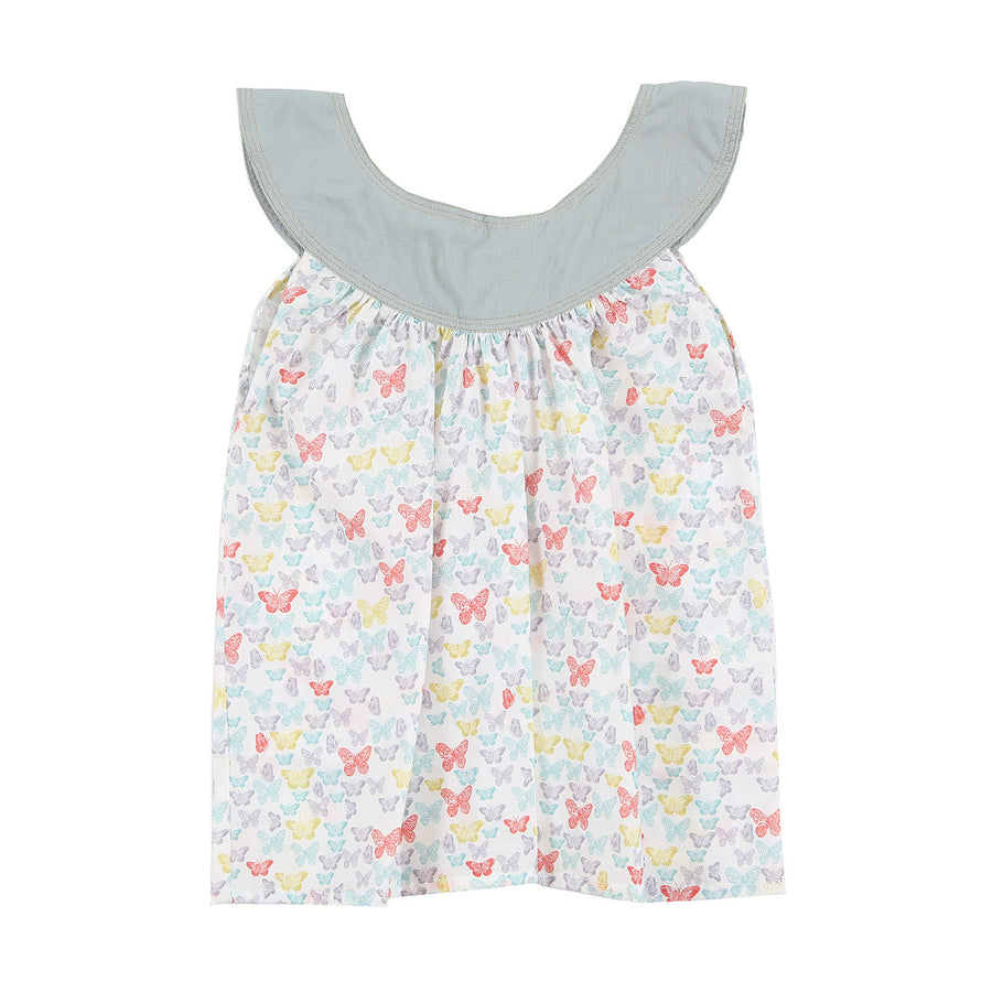 Girl Myrtille Printed Blouse by Moon et Miel - Flying Colors Baby