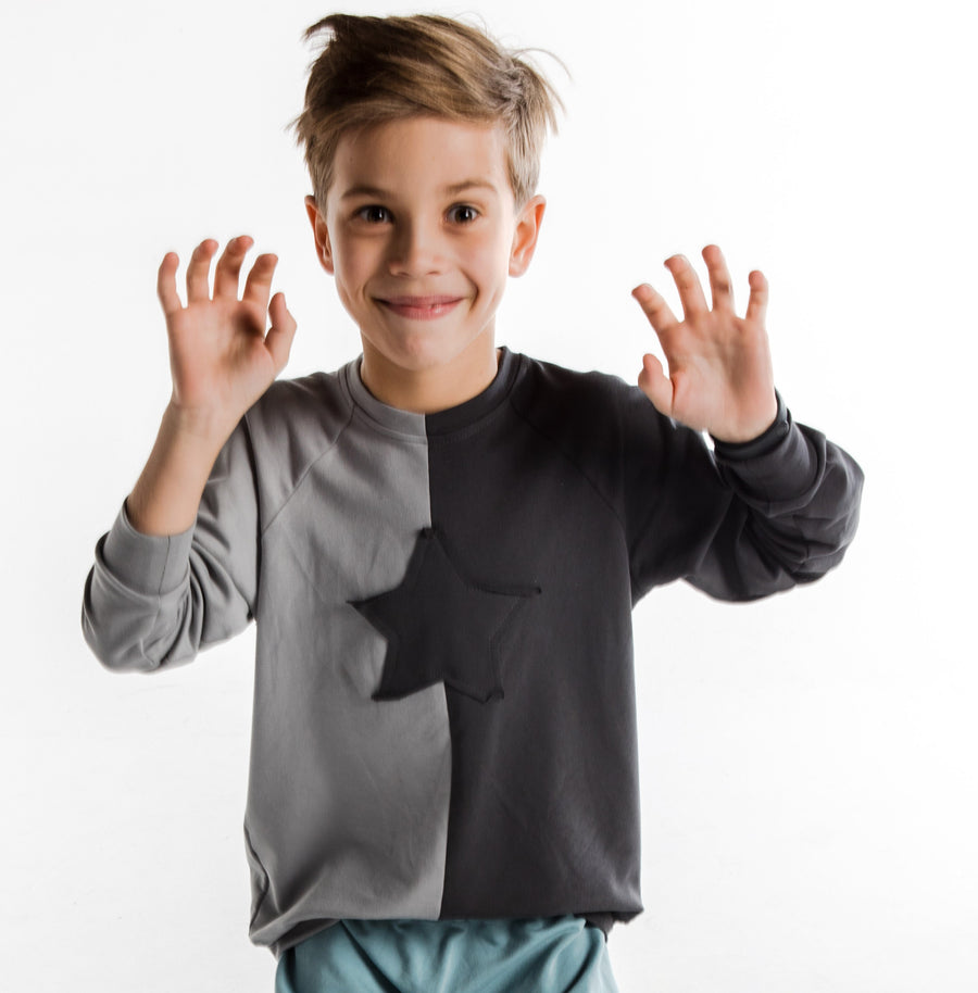 Double Star Sweatshirt by Maybe4Baby