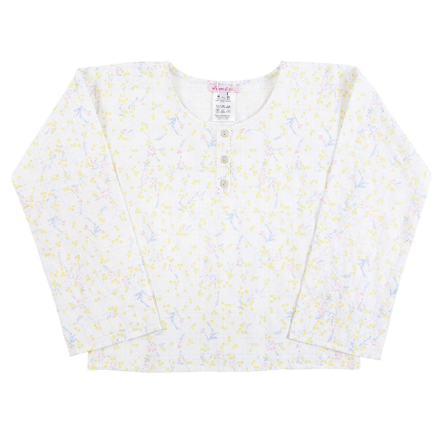 Lilas Silver Flowers Top by Moon et Miel