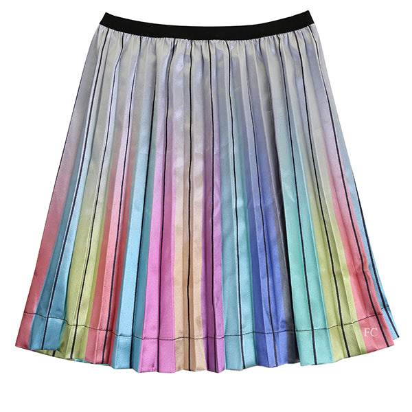 Rainbow Pleated Skirt by Paisley