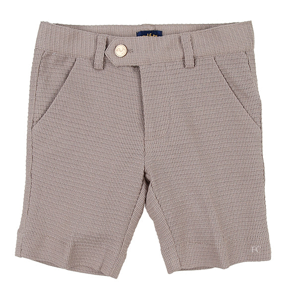 Pocket Textured Tan Shorts by Alfa Perry