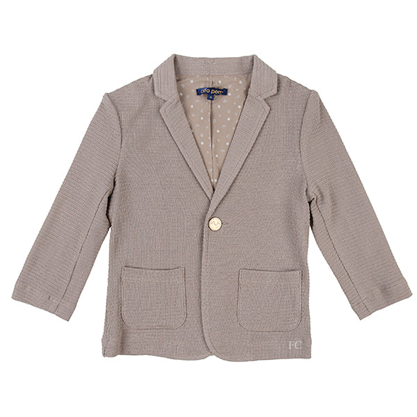 Textured Tan Blazer by Alfa Perry