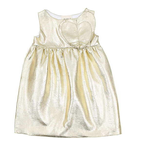 Gold Heart Dress by DOU DOU