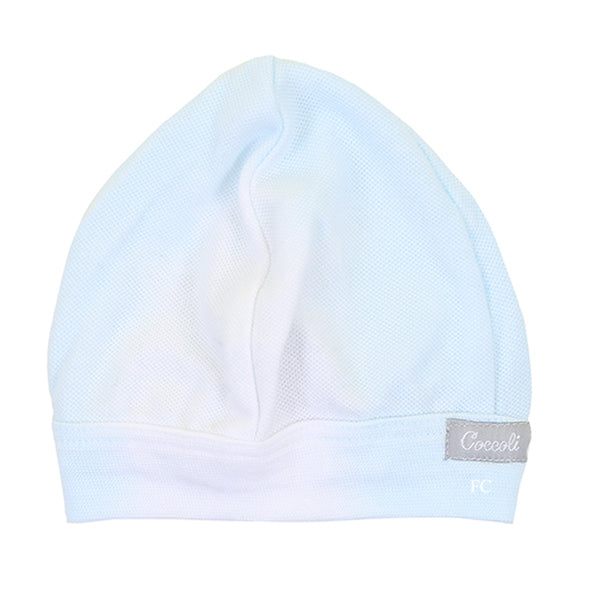 Blue Piqué Dip Dye Cap by Coccoli