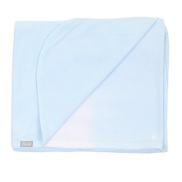 Blue Piqué Dip Dye Blanket by Coccoli