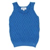 Blue Fretwork Top by Tocon