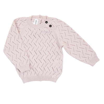 Pink Fretwork  Baby Jersey by Tocon