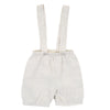 Linen Suspender Shorts by Olive