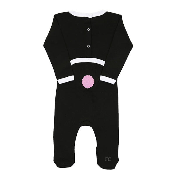 Black Girl Summer Bunny Footie by Coton Pompom
