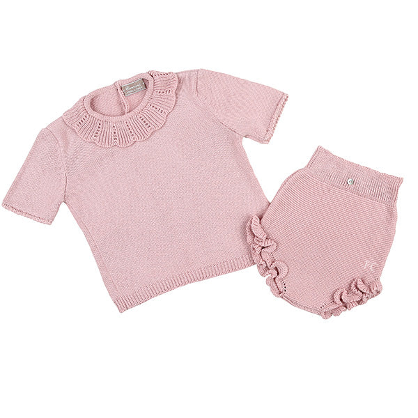 Antique Pink Top and Bloomer Set by Carmina