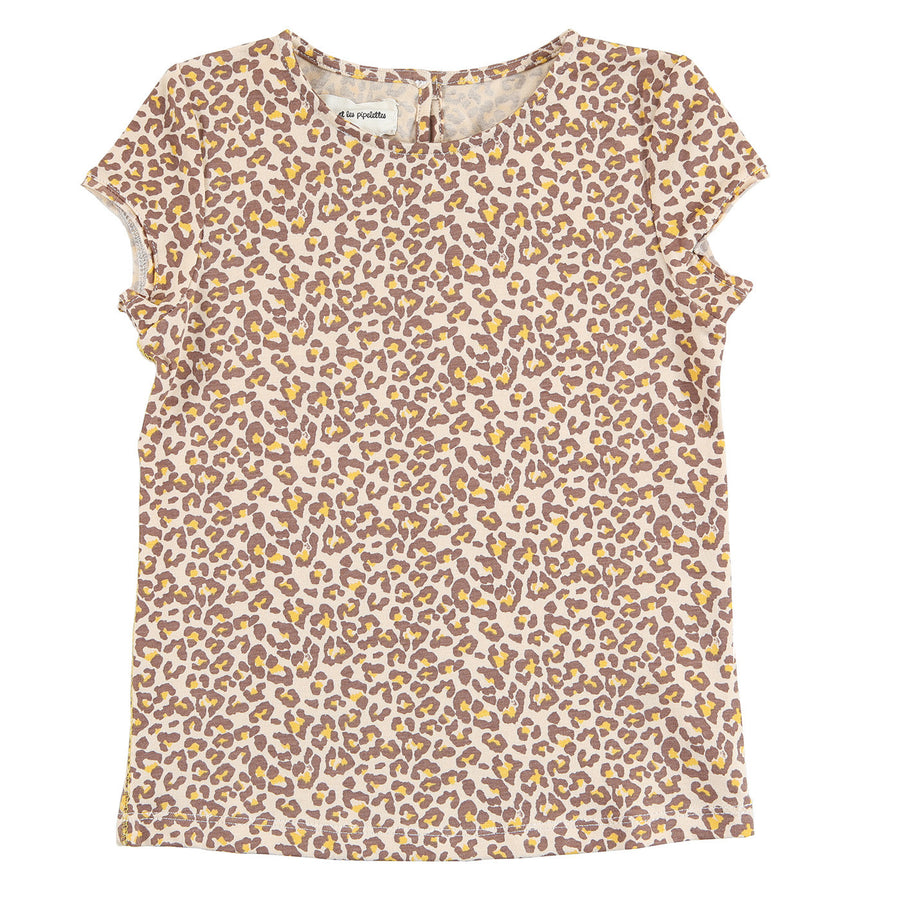 Leopard Printed T-Shirt by Arsene - Flying Colors Baby