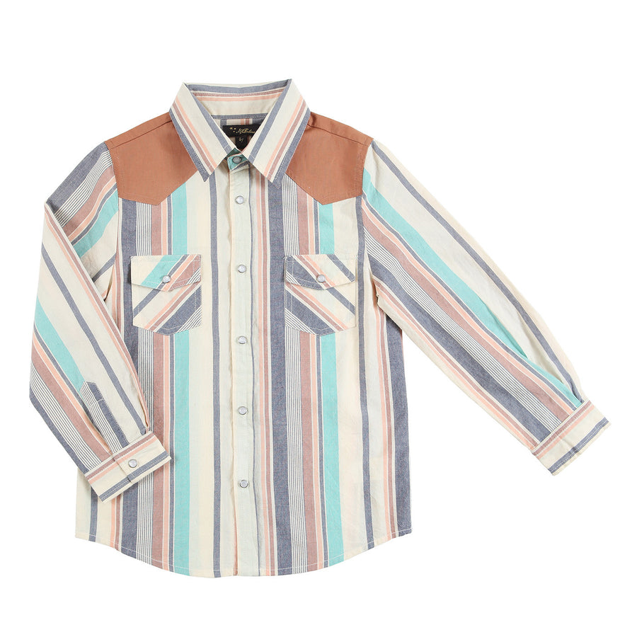 Artie Western Yoke Dress Shirt by Velveteen - Flying Colors Baby