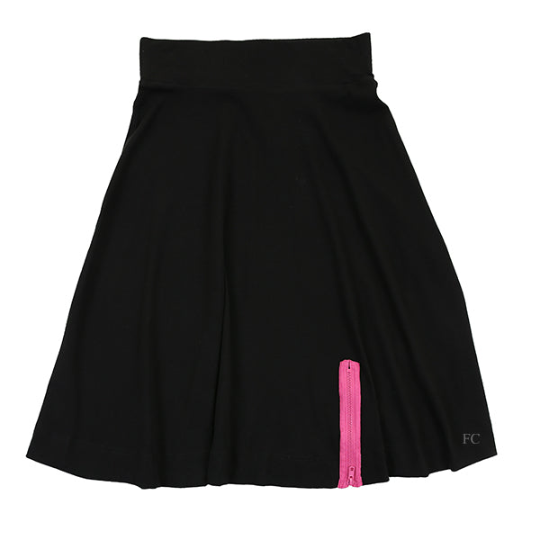 Black Pink Zip Skirt by TLB