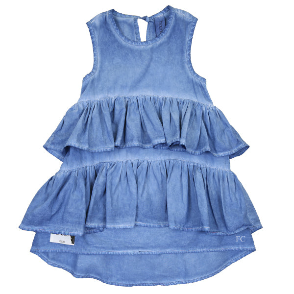 Blue Wave Colddye Dress by Booso
