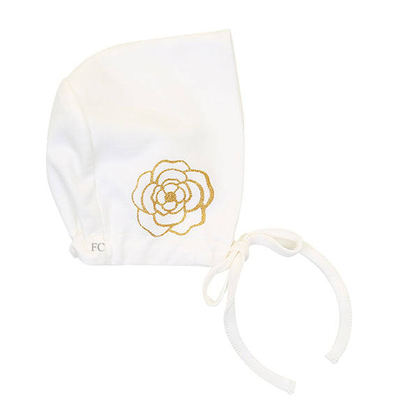 Ivory Gold Flower Bonnet by Chant De Joie