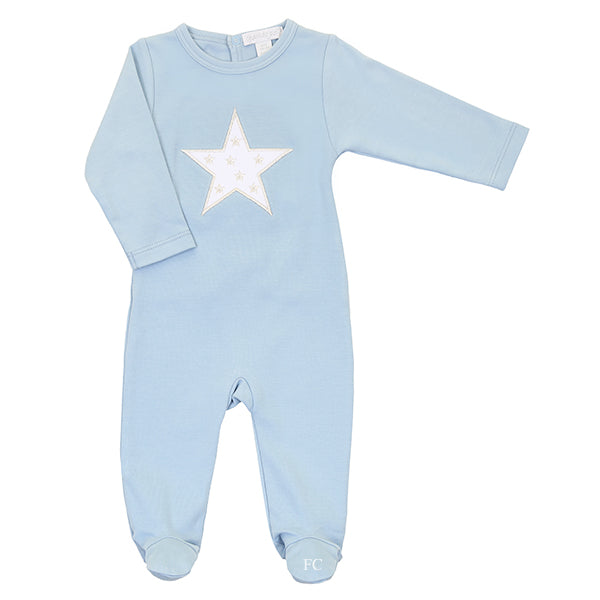 Blue Silver Star Footie by Chant De Joie